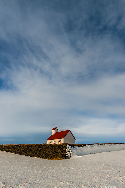 Church, Ancient Viking Stone Wall,  Iceland Winter Landscapes and Fire in the Sky Tour
