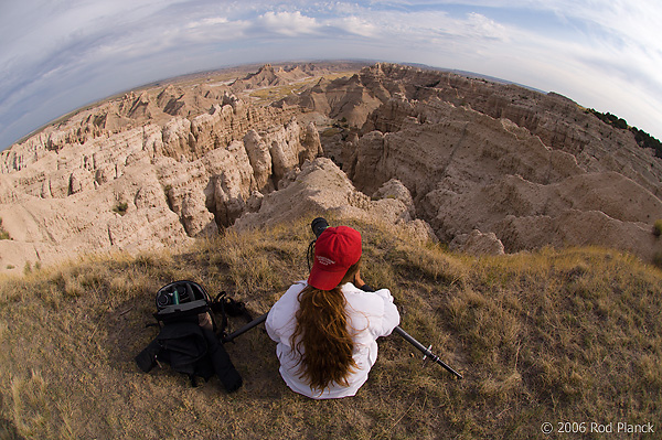 Marlene Planck, Photographing in Badlands National Park, South Dakota