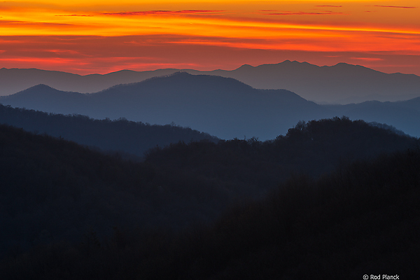 Southern Appalachian Mountains - Sunset